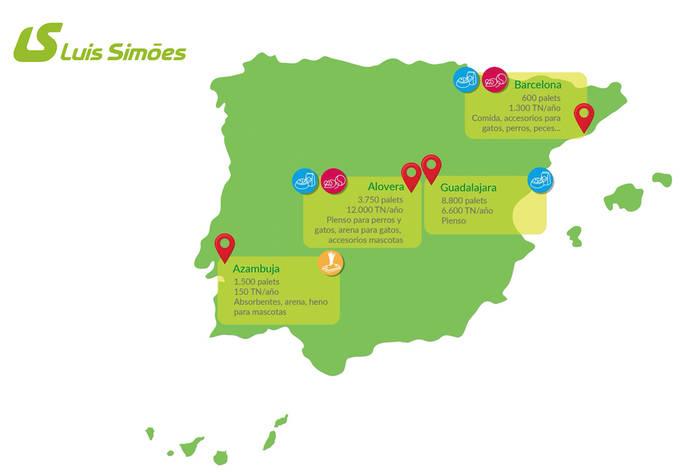 Luís Simões mueve al año más de 20.000 toneladas de productos mascotas