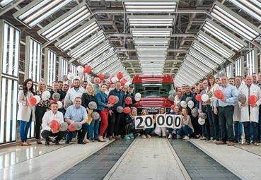 La MAN TGE número 20.000 sale de la línea de producción