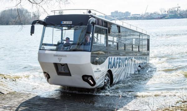 Chasis de camión MAN para un autobús anfibio de Hamburgo