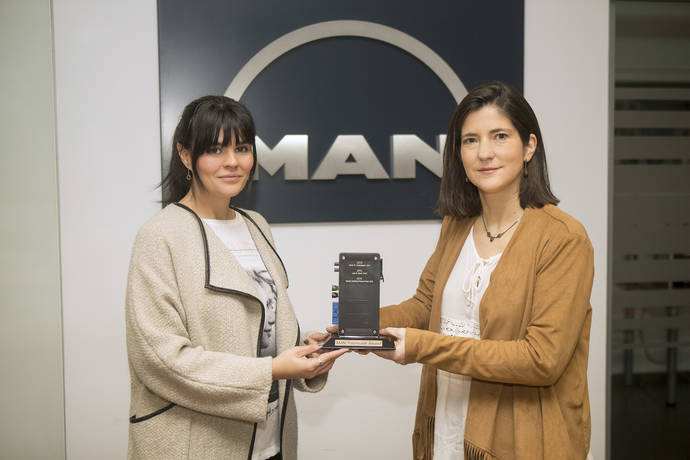 MAN Truck & Bus Iberia recibe el TeleMatics Award por su excelencia de servicio