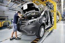 La fábrica de Vitoria es la principal factoría de furgonetas y monovolúmenes de Mercedes Benz.
