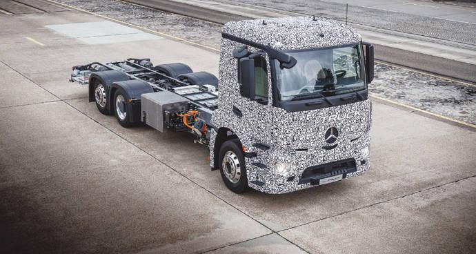Mercedes Benz muestra su primer camión 100% eléctrico diseñado para distribución