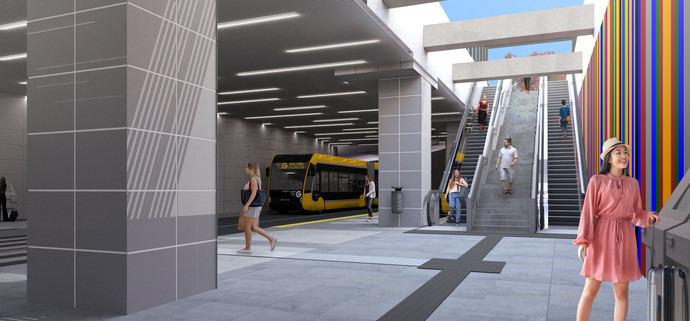 Guaguas Municipales licita obras en la parada MetroGuagua Santa Catalina
