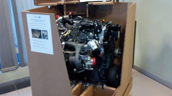 Europac concibe un embalaje especial para los motores de Renault