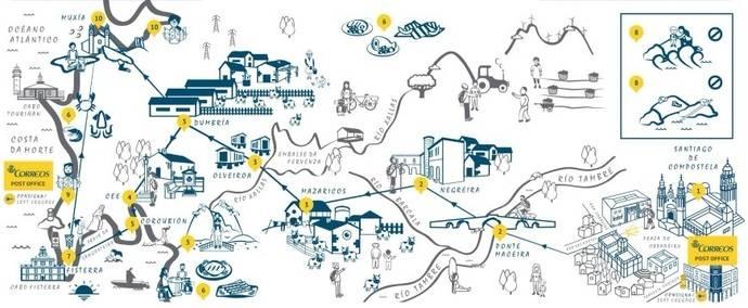Correos toma la decisión de promocionar el Camino de Santiago