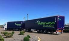 Megacamión Palletways.