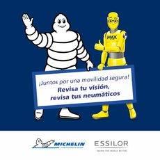 Michelin y Essilor, juntos por la movilidad segura y revisar neumáticos