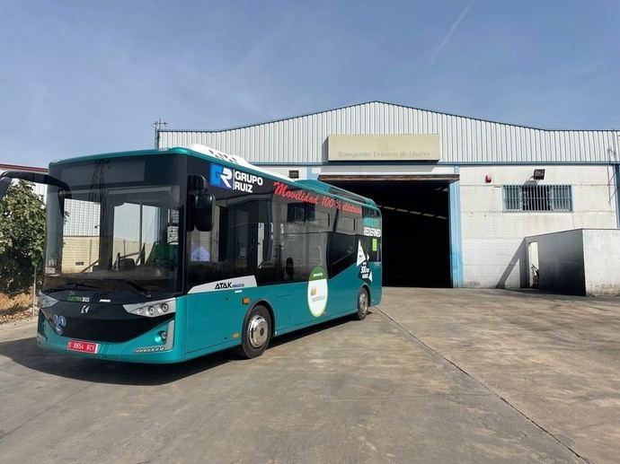 Transportes Urbanos de Linares realiza pruebas con un microbus eléctrico