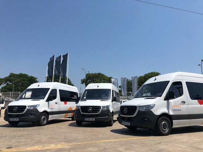 Autolica Tarragona entrega cinco Mercedes Sprinter al Grupo Mimara