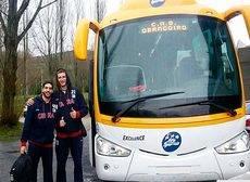 Monbus transportó a los equipos y aficiones participantes en la Copa del Rey.