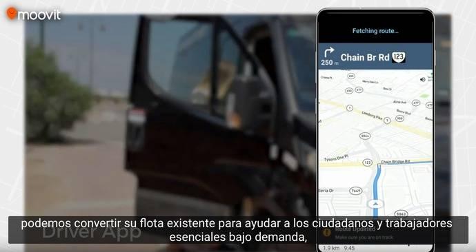 Moovit lanza una solución de transporte bajo demanda