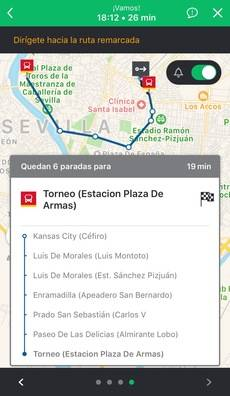 Ejemplo en la ciudad de Sevilla.