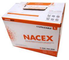 La nueva caja reutilizable creada por Nacex.