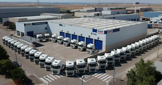 Los nuevos camiones de Marcotran.