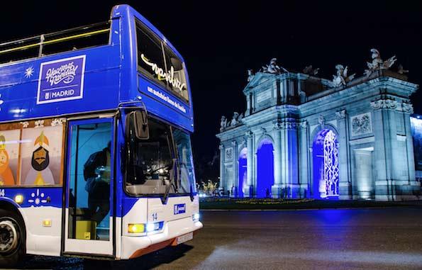 Vuelve el Naviluz, el bus de la EMT para ver la iluminación navideña