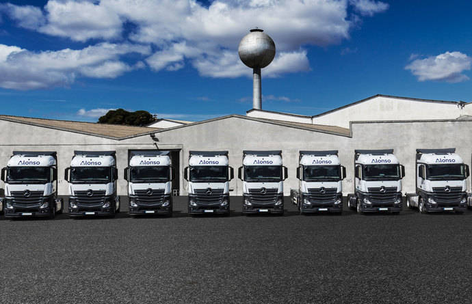 Alonso adquiere 100 Mercedes Benz Actros 1845