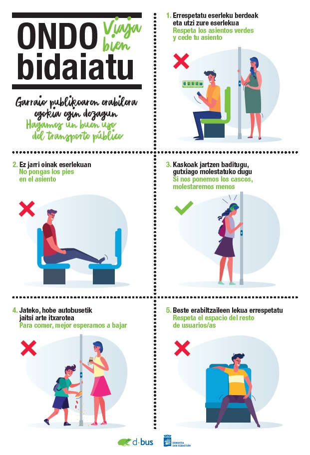 Dbus lanza campaña de buen uso del autobús 'Viaja bien'