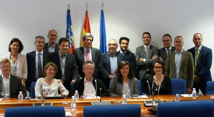Los representantes de Valenciaport y Anfac.
