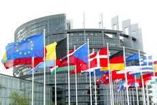 Exterior del Parlamento Europeo.