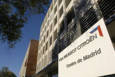 Fachada del Grupo PSA en Madrid.