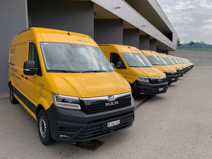 11 MAN eTGE para servicio postal suizo