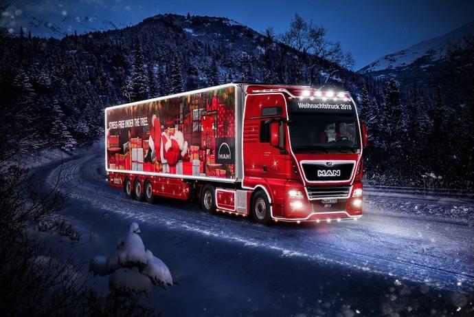Nuevo camión MAN TGX XXL con motivos navideños