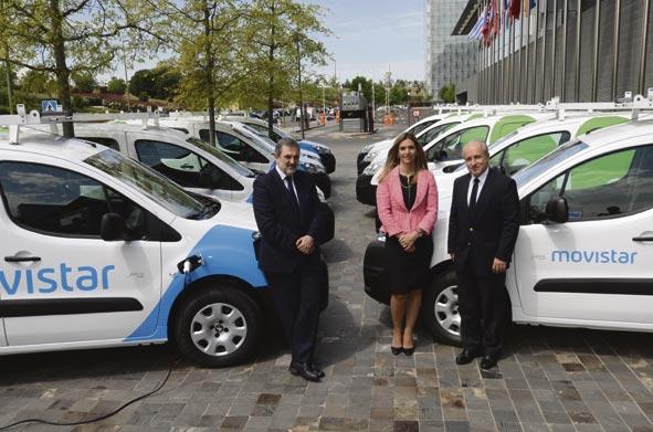 Telefónica, pionera en incorporar vehículos eléctricos a su flota