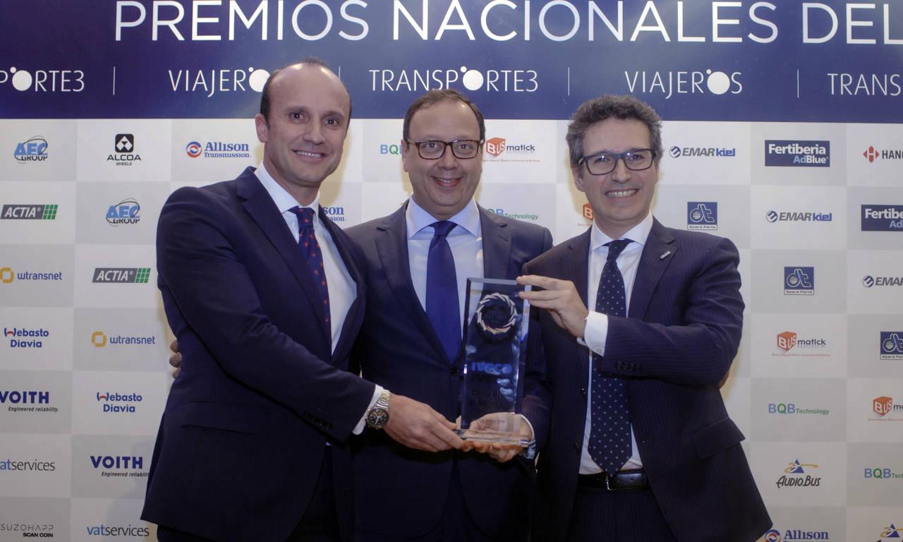 Dos vehículos Iveco, Premio Nacional de Transporte