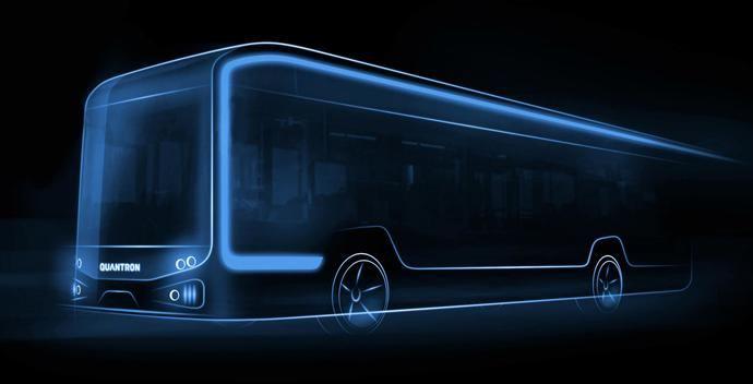 Estreno mundial: Quantron lanza un autobús eléctrico de 12 metros