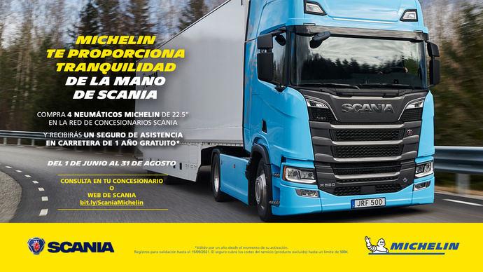 Michelin y Scania se asocian en una campaña promocional única