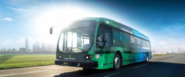 Uno de los autobuses eléctricos creado por Proterra.