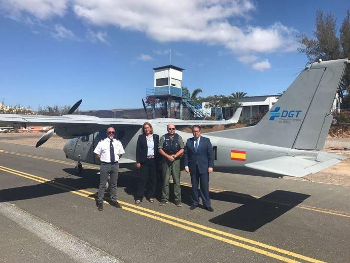 Se realizan pruebas piloto con una aeronave de la DGT en Las Palmas