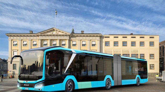 75 buses eléctricos MAN Lion's City a Gotemburgo y Estocolmo