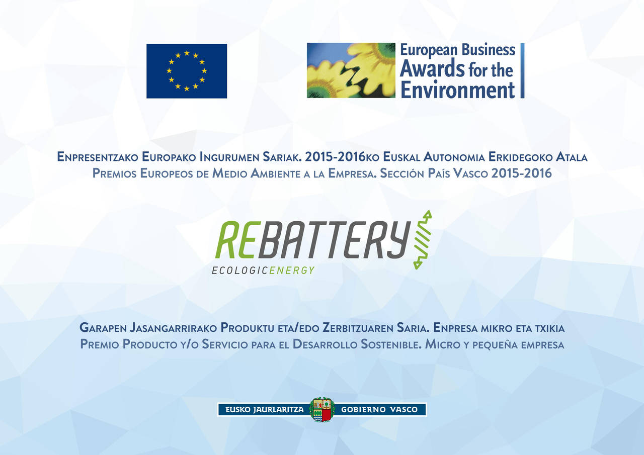 Rebattery candidata al 'The European Business Award'