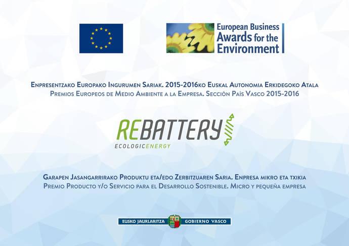 Rebattery candidata al 'The European Business Award'