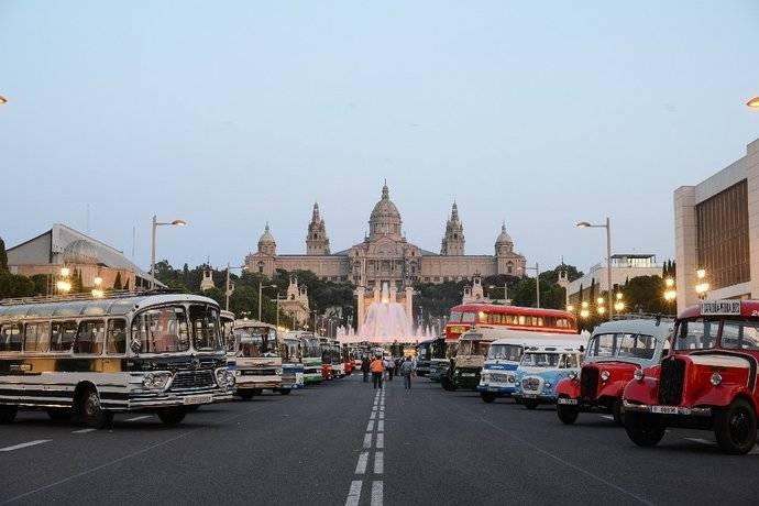 Sagalés organizó el 7º Rally Internacional de Autobuses Clásicos en Barcelona
