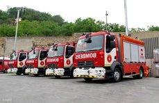 El Ayuntamiento de Barcelona incorpora cuatro Renault Trucks a la flota del Cuerpo de Bomberos.