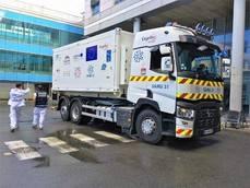 Un Renault Trucks, hospital de vacunación en Navarra