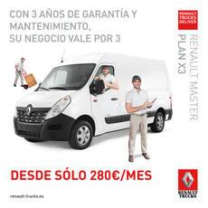 Renault Trucks ofrece la oportunidad del Renault Master con su Plan x3