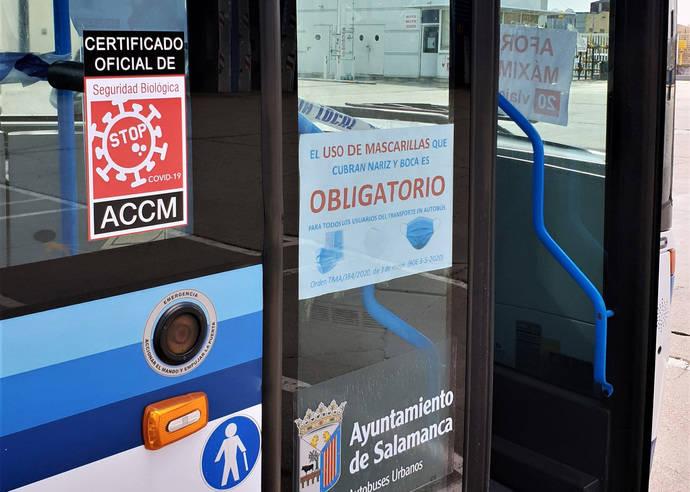 Urbanos Salamanca obtiene certificado Stop Covid-19