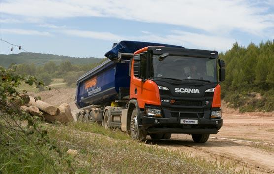 La gama de construcción XT de Scania se pone a prueba en Barcelona
