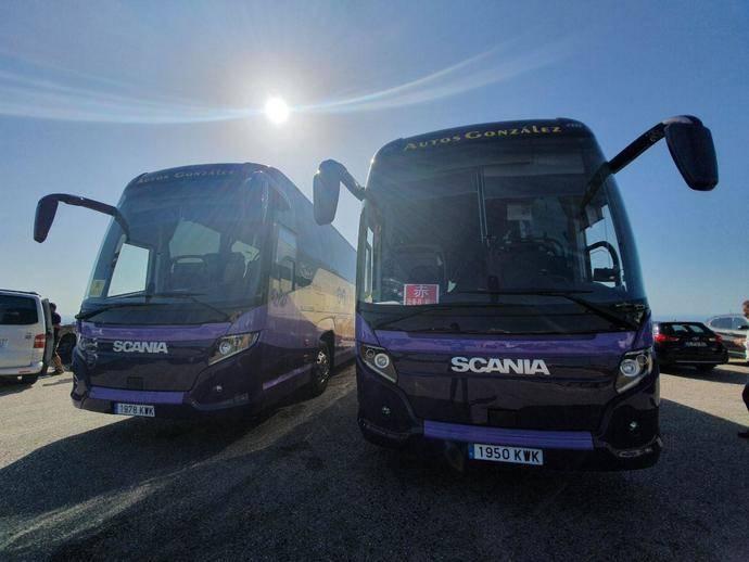 Autos González amplía su flota con dos nuevos Scania Touring HD