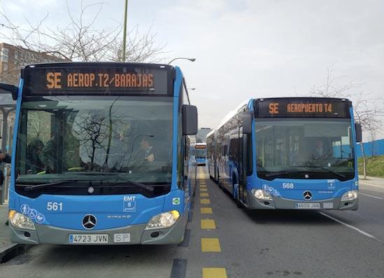EMT Madrid mueve 1,5 millones de viajeros al aeropuerto por obras en línea M8