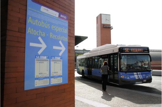 EMT sustituirá el servicio de trenes entre Atocha y Recoletos