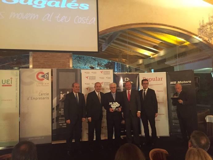 Sagalés recibe el Premio a la Trayectoria Empresarial