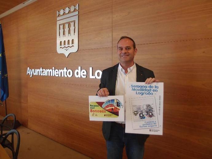 El concejal de Transporte Urbano, Tráfico y Vías Urbanas de Logroño, Francisco Iglesias.