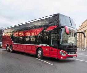 El S 531 DT de Setra, especializado en viajes para turistas