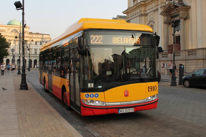 La línea 222 de Varsovia ya utiliza el autobús eléctrico Solaris Urbino 12.