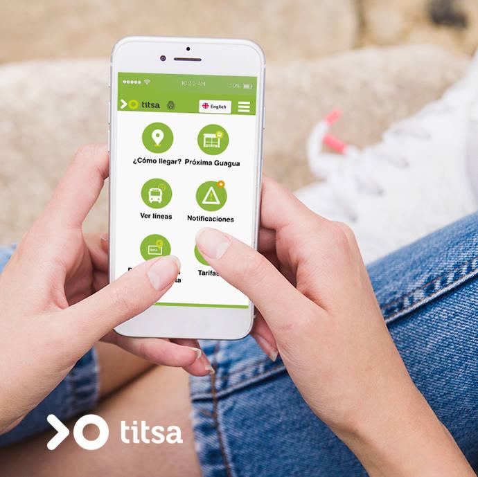 Titsa mejora la funcionalidad de su web móvil