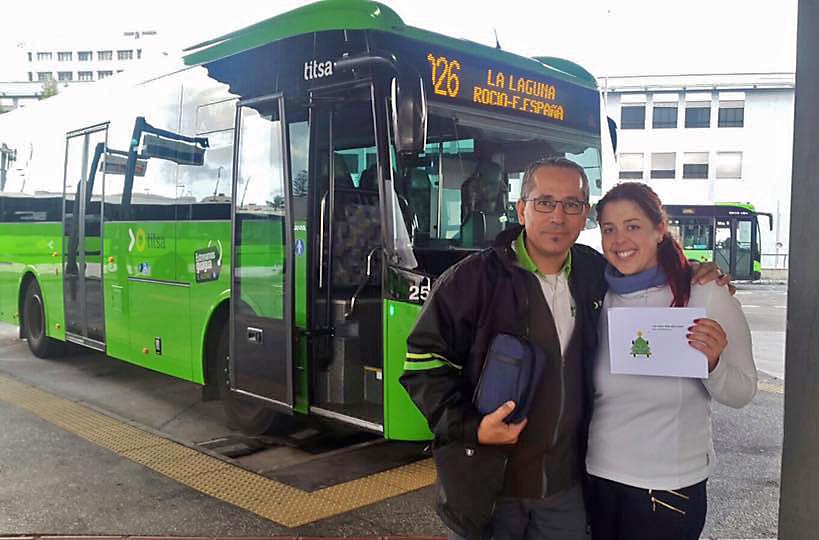 Titsa premia a 150 clientes con bonos por usar el - Transporte tenerife ...